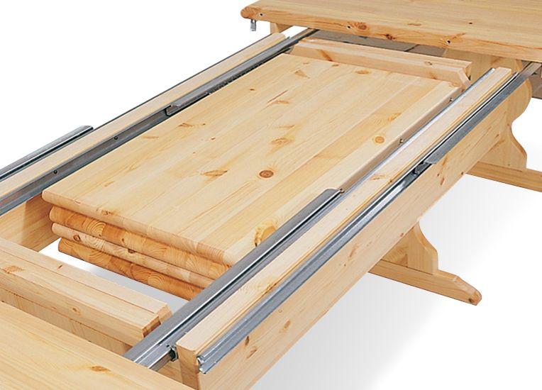Dettaglio apertura tavolo rustico allungabile. www ...