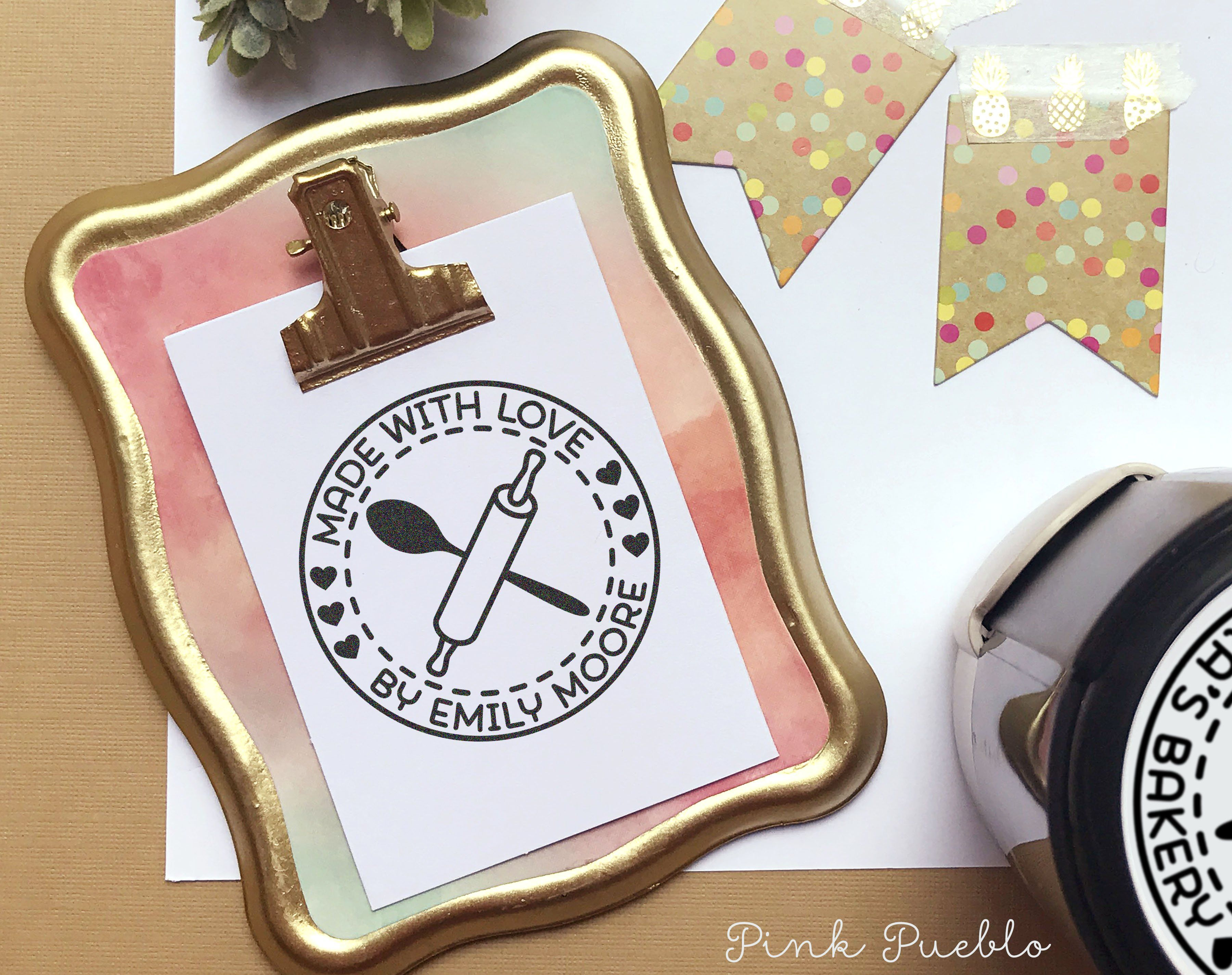 Name Rubber Stamp for Kids Isaac