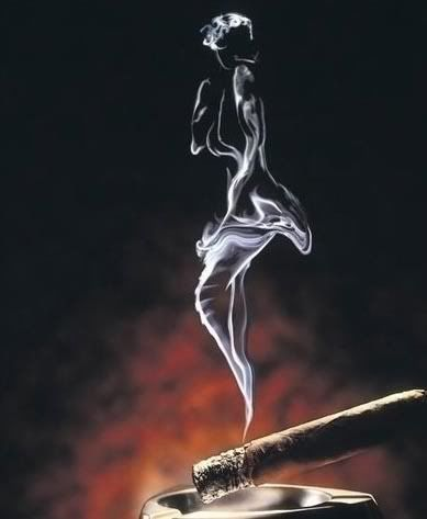 Like the smoke from the cigar....