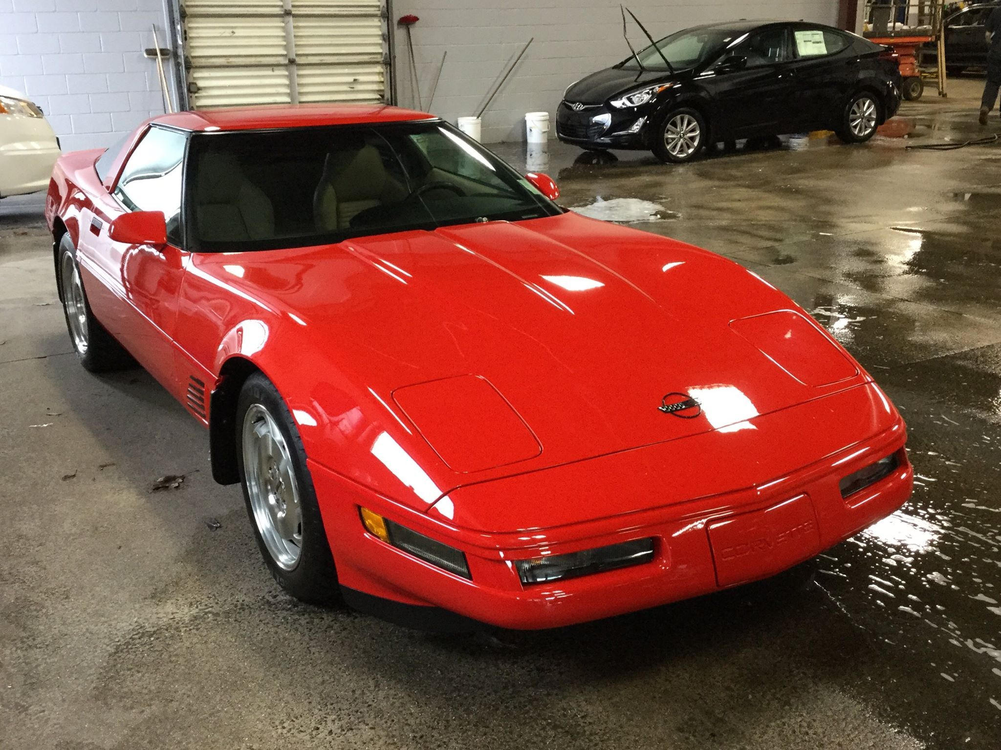 1996 Corvette Lt4 In Torch Red With Light Beige Interior And Only 9 543 Miles On The Odometer