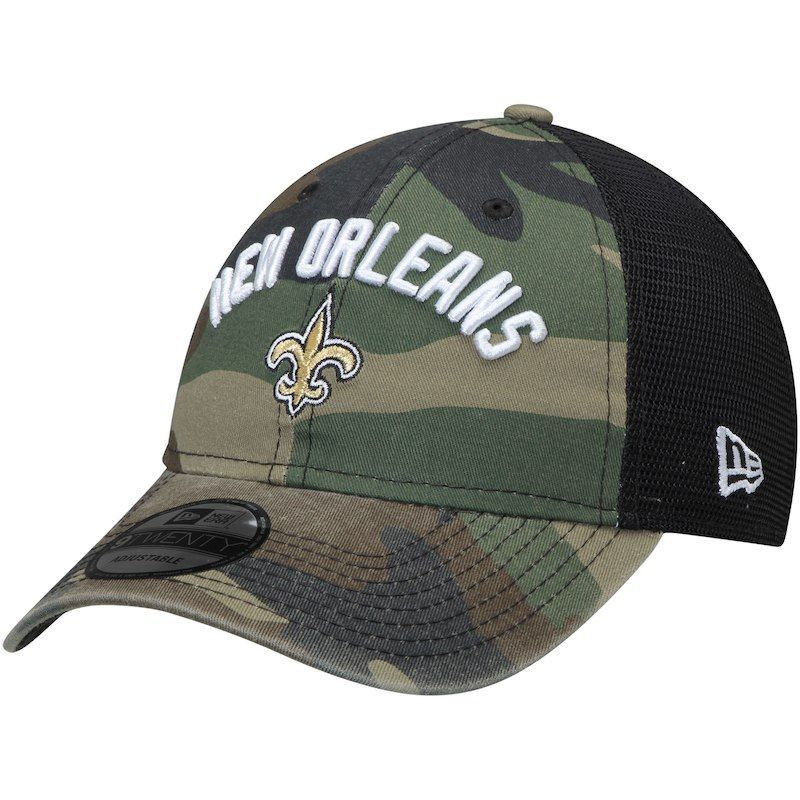 ... official store new orleans saints new era woodland camo rugged stack  9twenty adjustable hat camo b15fe 8d9ee6849