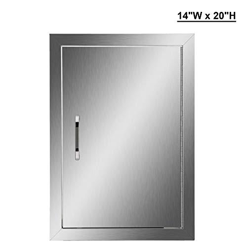Co Z Outdoor Kitchen Doors Stainless Steel Single Bbq Access Door Sale Backyardequip Com Stainless Steel Kitchen Cabinets Outdoor Kitchen Steel Kitchen Cabinets