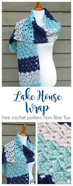 Lake House Wrap, free crochet pattern + full video tutorial from ...
