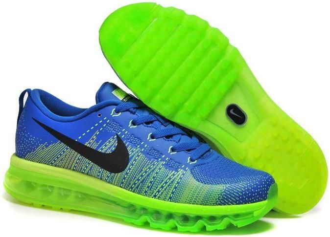 Nike Air Max 2014 Black And Green Flyknit Flyknit Shoes