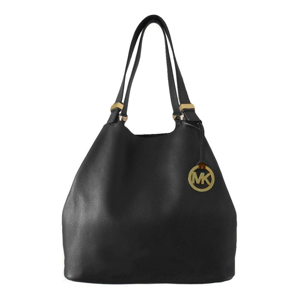 0808e4c61c06 ... Michael Kors Colgate Large Leather Bag in Black ...