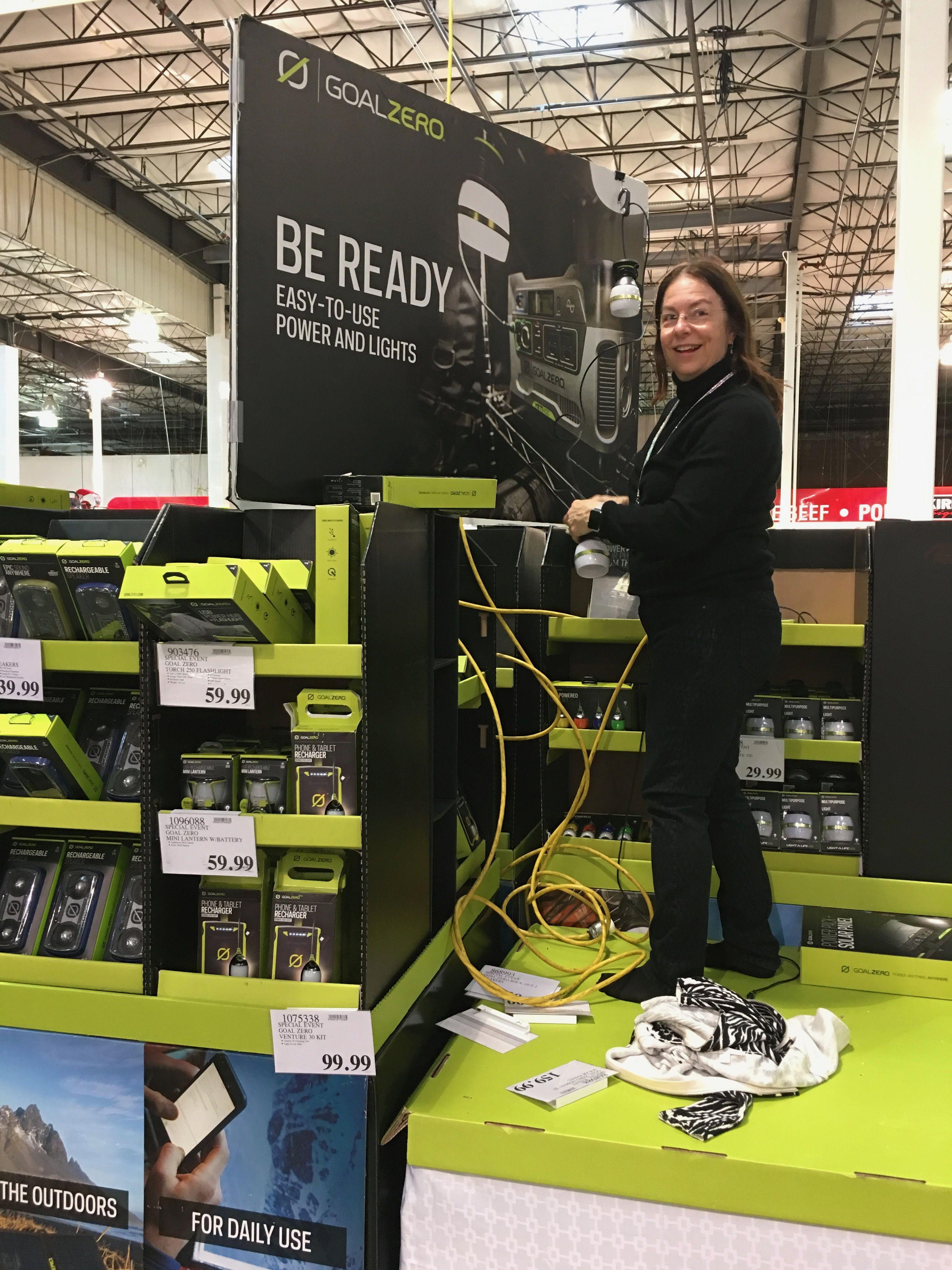 Behind the scene glimpse Suzie Solar rea s her Goal Zero sales