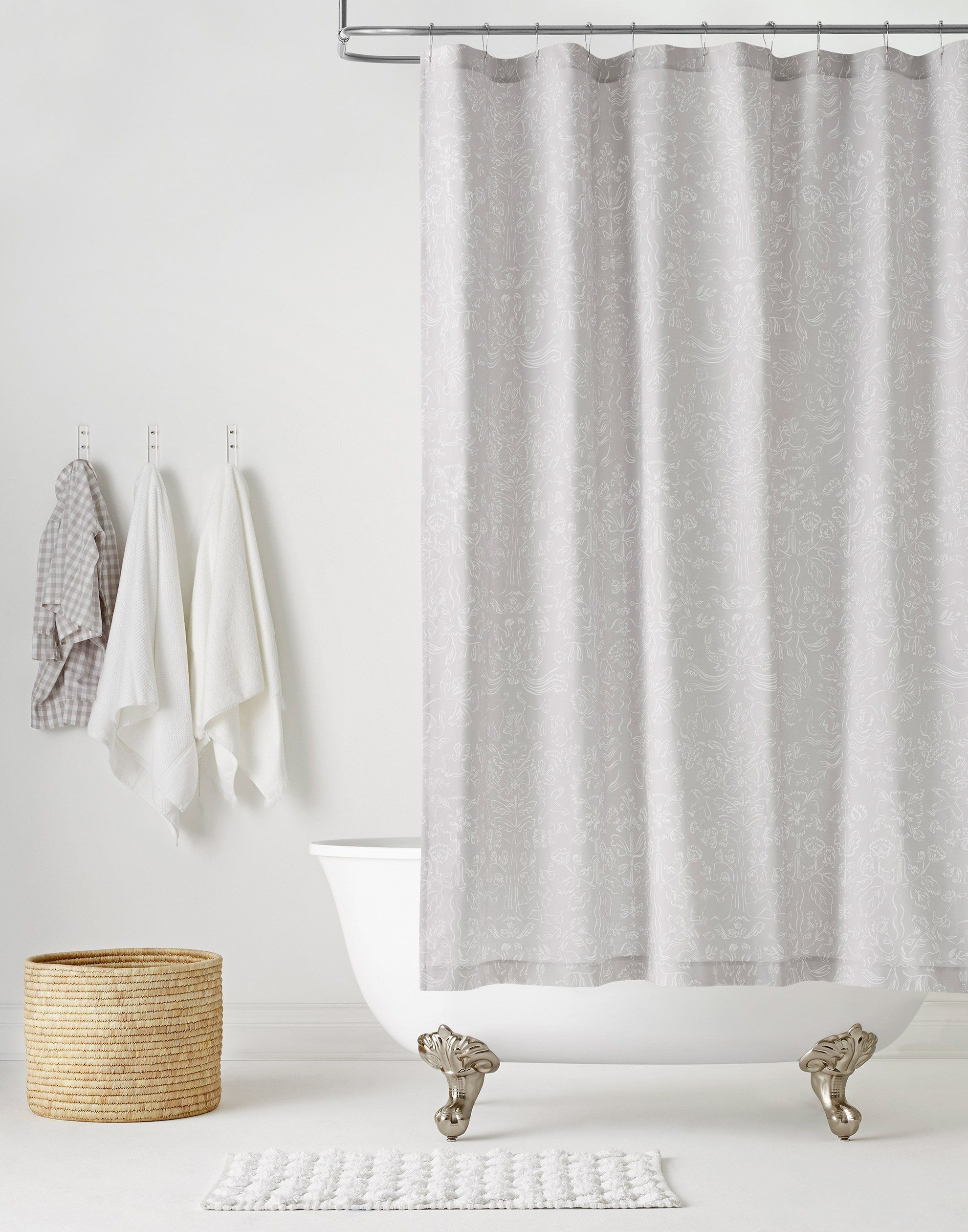 Storyline Gray Shower Curtain Default Title Gray Shower