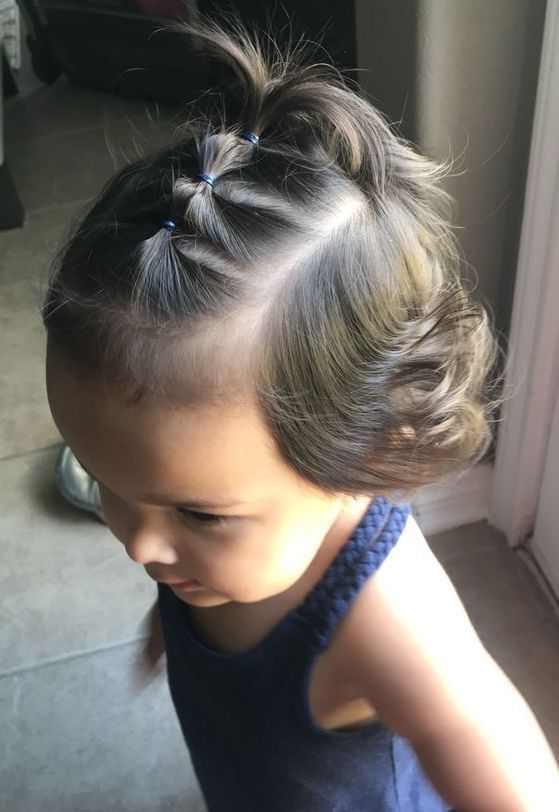 Superb baby girl hairstyle that takes no time to do #easyhairstyles