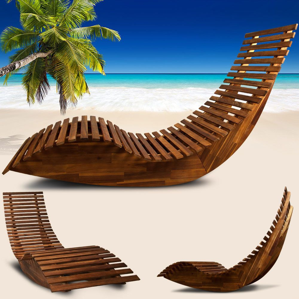 ergonomic sun lounger wooden garden sauna deck chair day bed outdoor