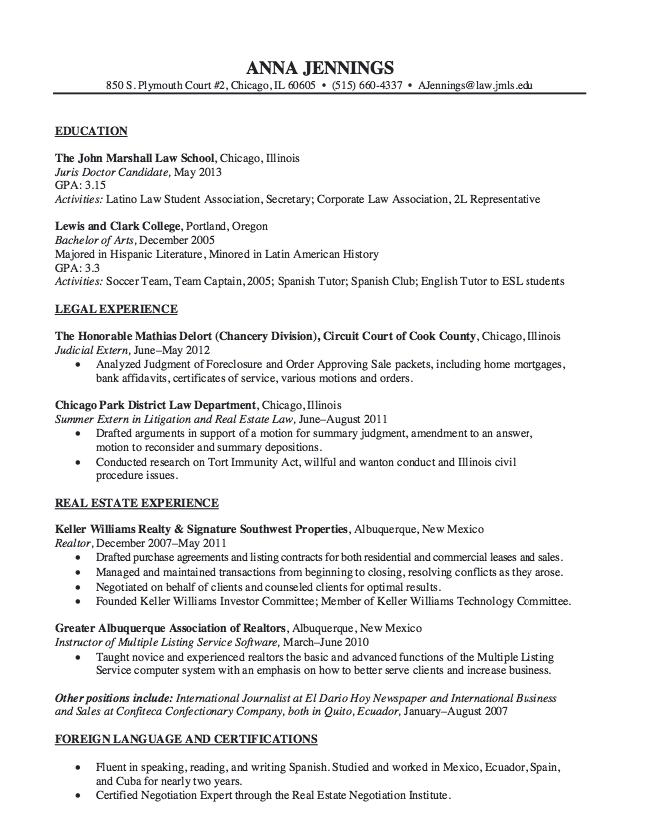 Real Estate Law Resume Sample Resumesdesign Resume Examples Job Resume Examples Resume Template Examples