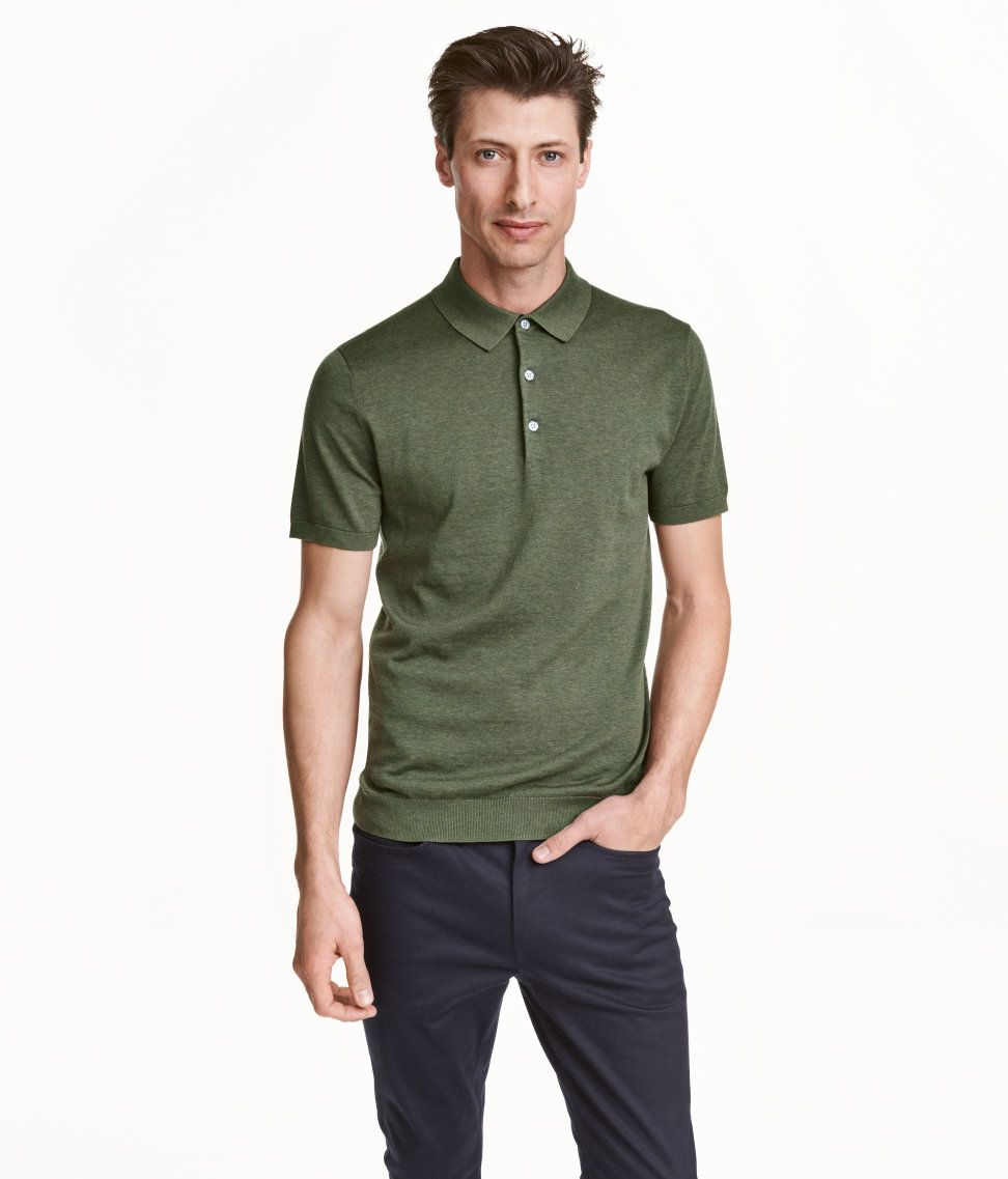 e249ef711 Fine-knit polo shirt