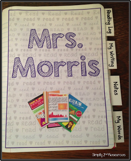 ideas for organizing student reading and writing notebooks, FREE printables included, more great literacy ideas here: https://goo.gl/kjwMB5