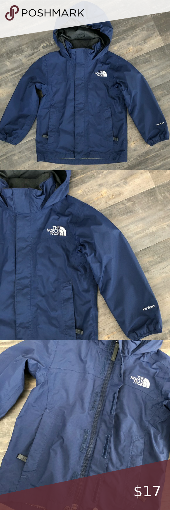 The North Face Hyvent The North Face Wind Breaker Rain Jacket In Navy Blue Size Is Xs Which Is A 6 Days Bo North Face Jacket North Face Hyvent The North Face [ 1740 x 580 Pixel ]