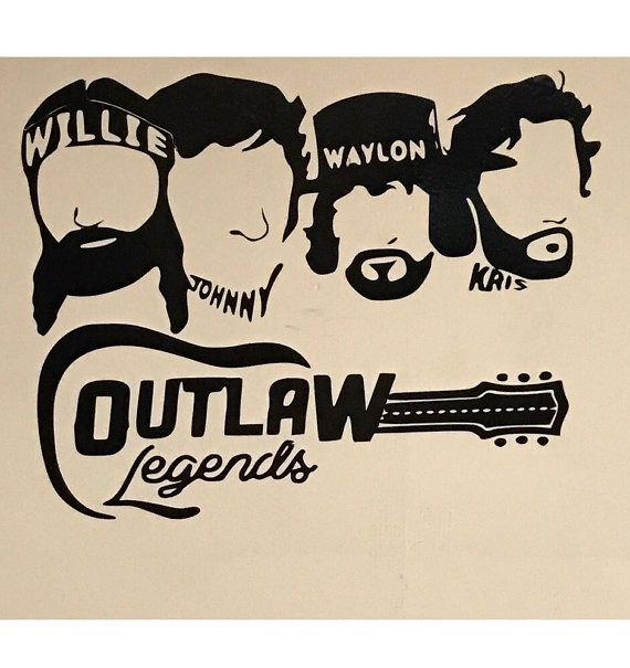 Willie Nelson Decal Waylon Decal Johnny Cash By Thedecalshoppeinc