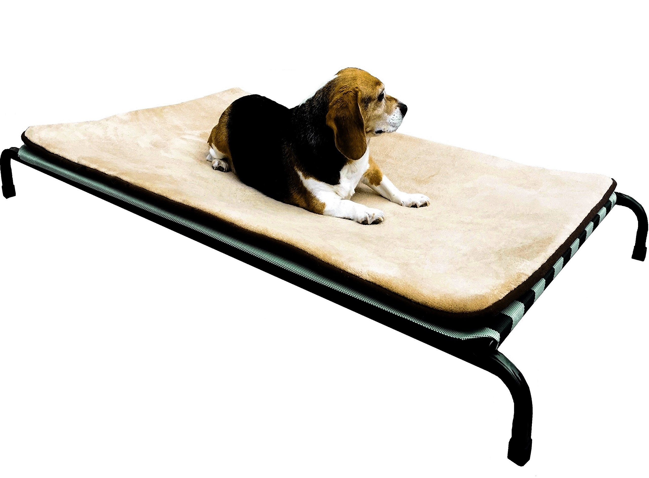 dogbed4less Textilene Fabric Heavy Duty Steel Elevated Pet