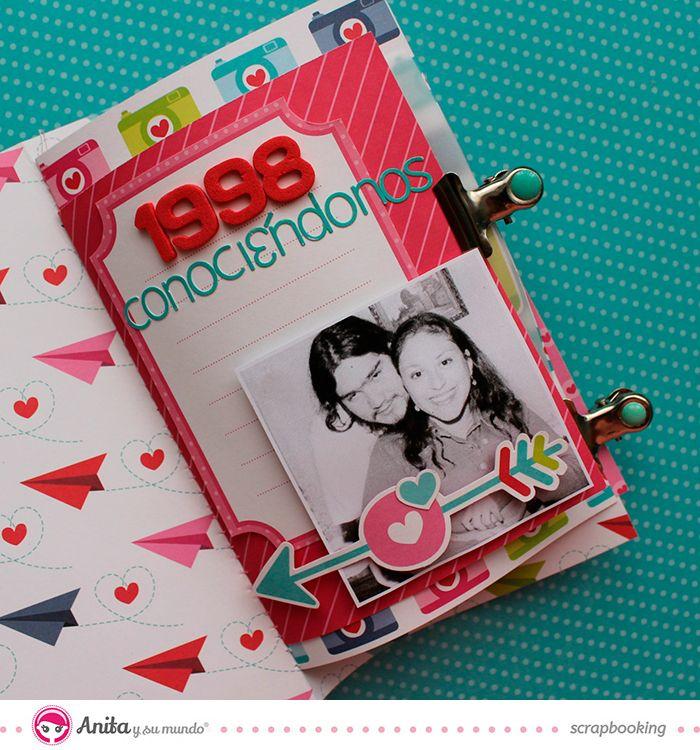 Decoraci n lbum san valent n anita y su mundo scrapbooking amor lbum san valent n y mini - Decoracion de album de fotos ...