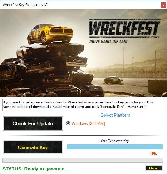 wreckfest key generator steam free game keygens and