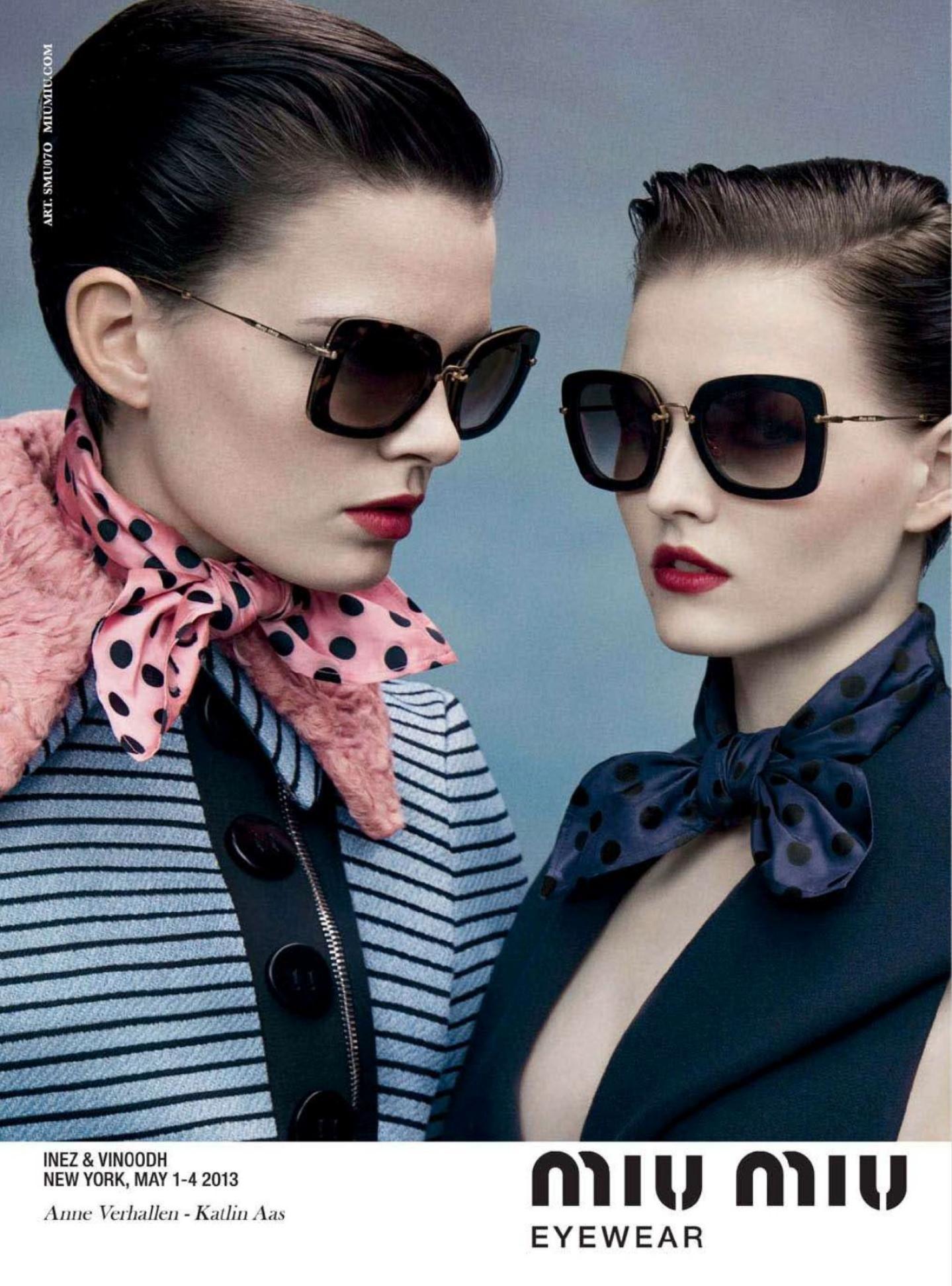 4d276601efb MIU MIU F W 13.14 Eyewear  ad campaign