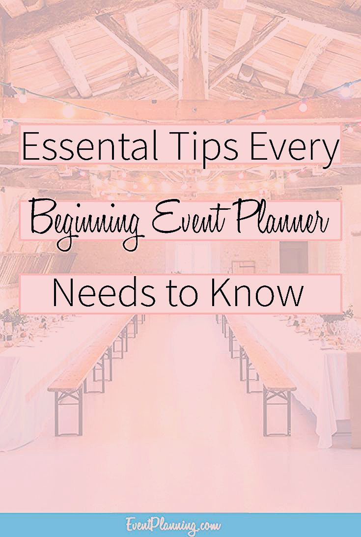 Photo of Essential Tips for Beginning Event Planners – EventPlanning.com