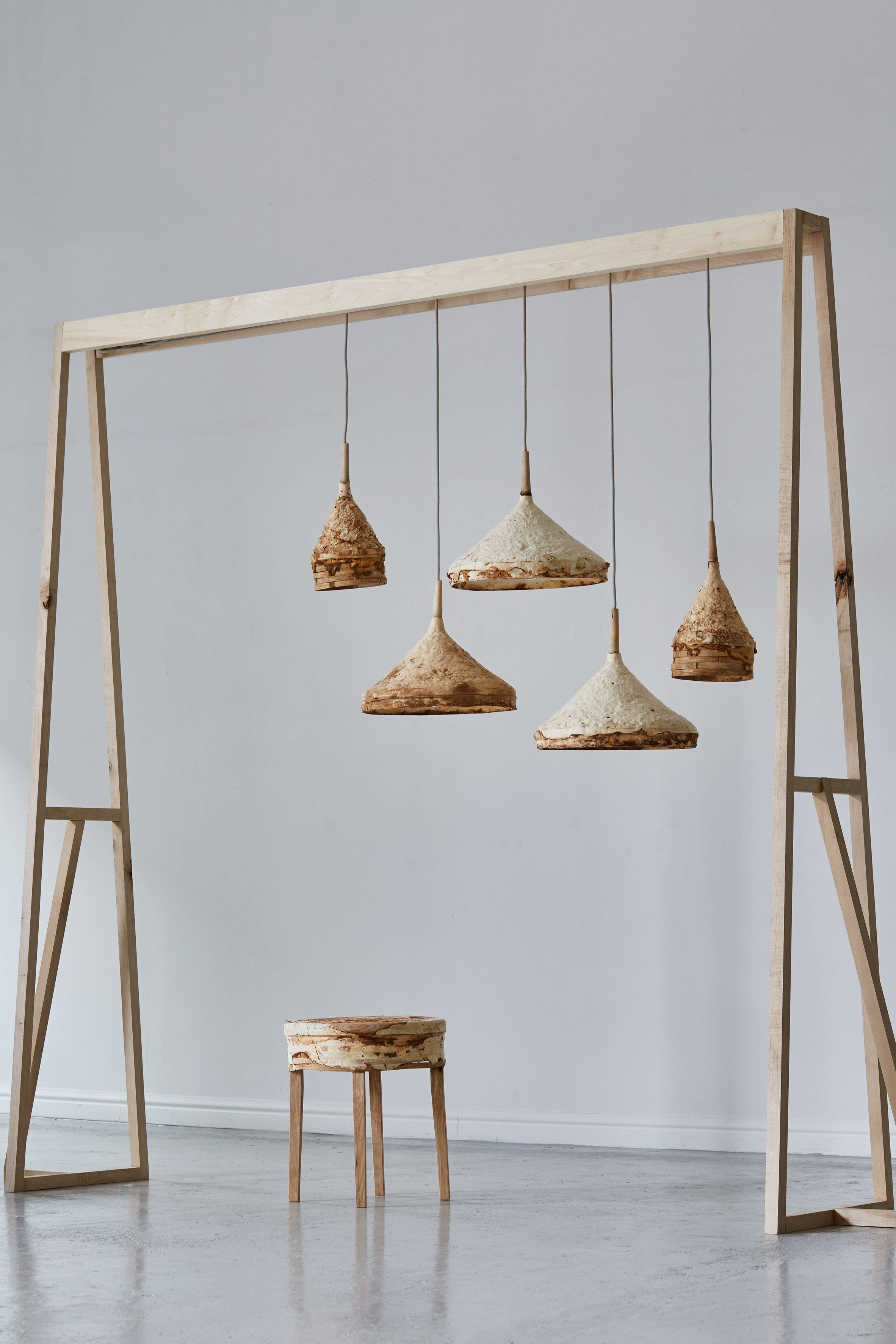 Mycelium Forms Suede Like Furniture By Sebastian Cox And Ninela  # Muebles Oficina Cox