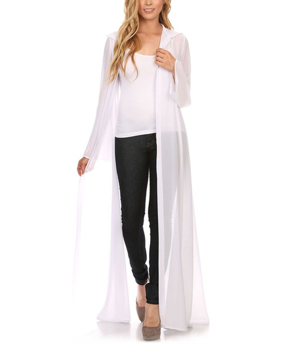 Another great find on #zulily! Karen T. Design White Sheer Open ...