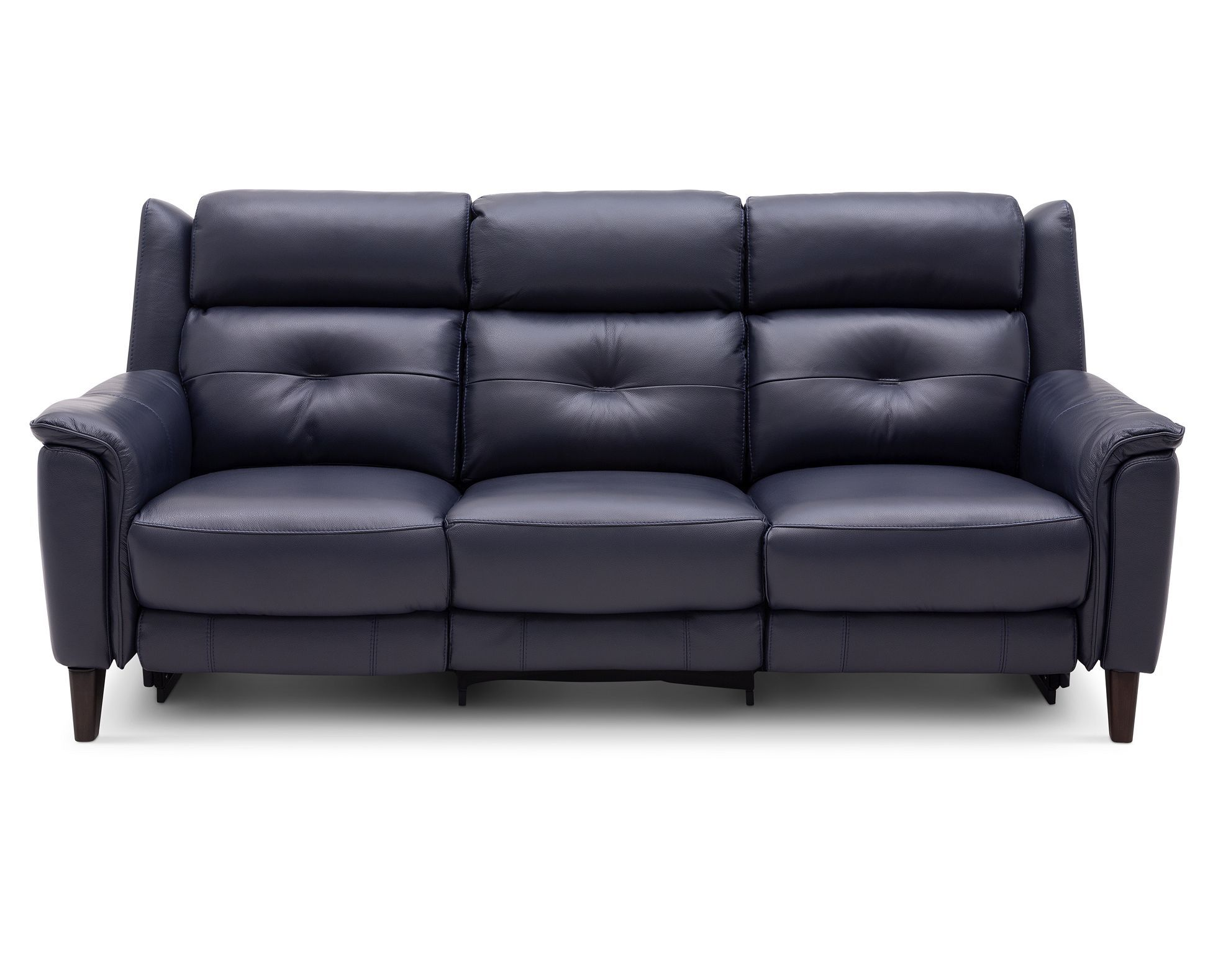 Light Blue Leather Recliner Sofa