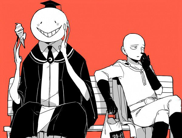 Assassination Classroom Koro Sensei One Punch Man Saitama Caped Baldy Lol One Punch Man Anime One Punch Man One Punch