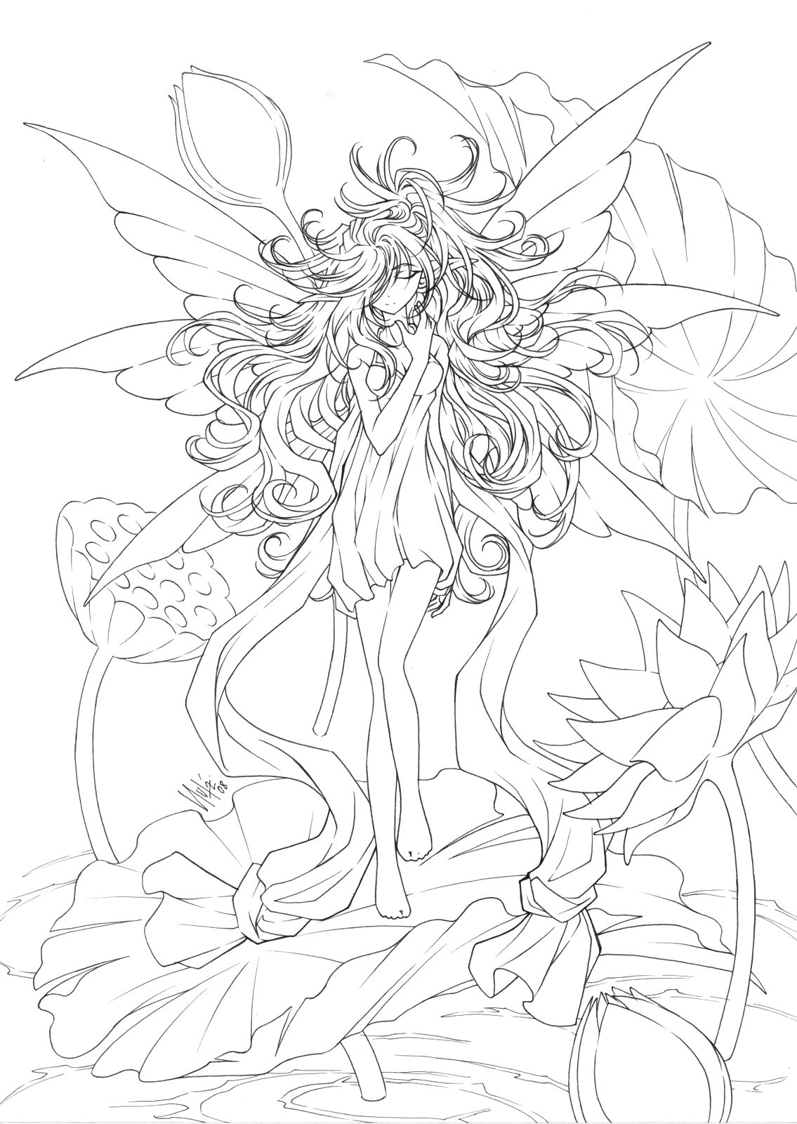 Coloring pages coloring pages pinterest adult coloring fairy