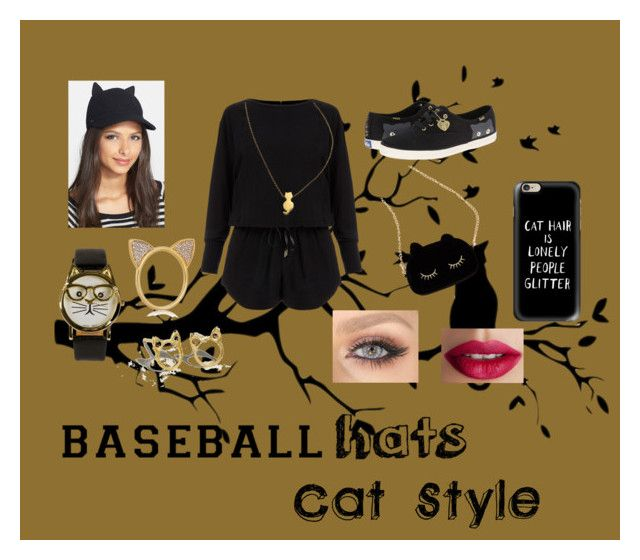 """""""Baseball Caps: Cat Style?"""" by ggandred ❤ liked on Polyvore featuring Helmut Lang, Keds, Kate Spade, JFR, Aamaya by priyanka, Urban Outfitters, ZoÃ« Chicco, TheBalm, Casetify and baseballcap"""
