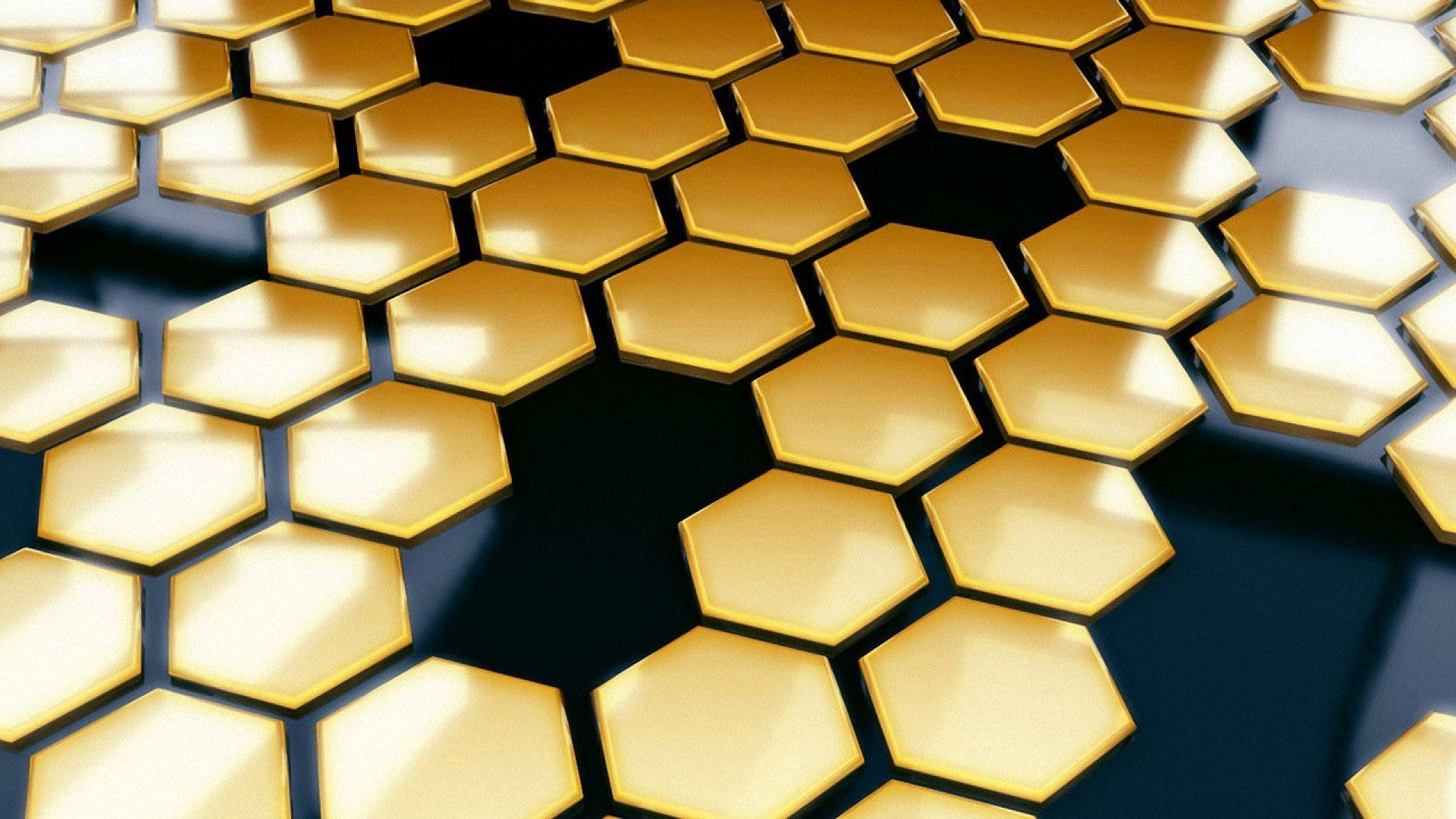 Download Wallpaper 1920x1080 Honeycomb Bees Black Yellow Full Hd 1080p Hd Background Honeycomb Wallpaper Hexagon Wallpaper Honeycomb