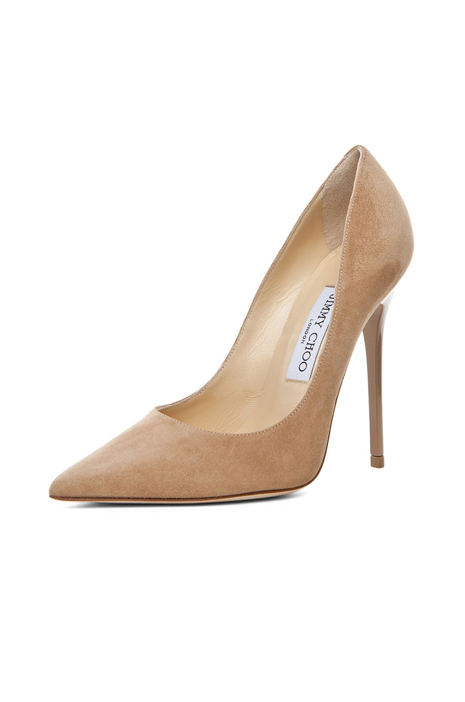 648d72d715 Image 2 of Jimmy Choo Anouk Suede Pumps in Nude   Shoes & Socks ...