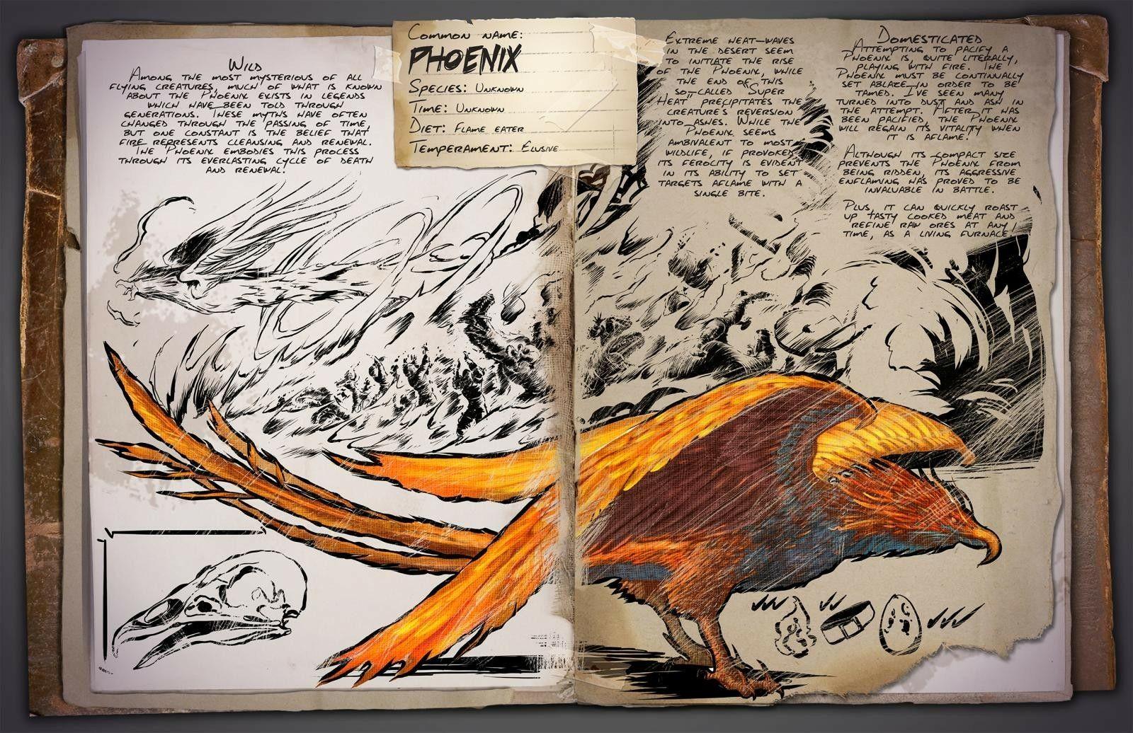 Ark Survival Evolved Phoenix Dino Dossier Fotos De