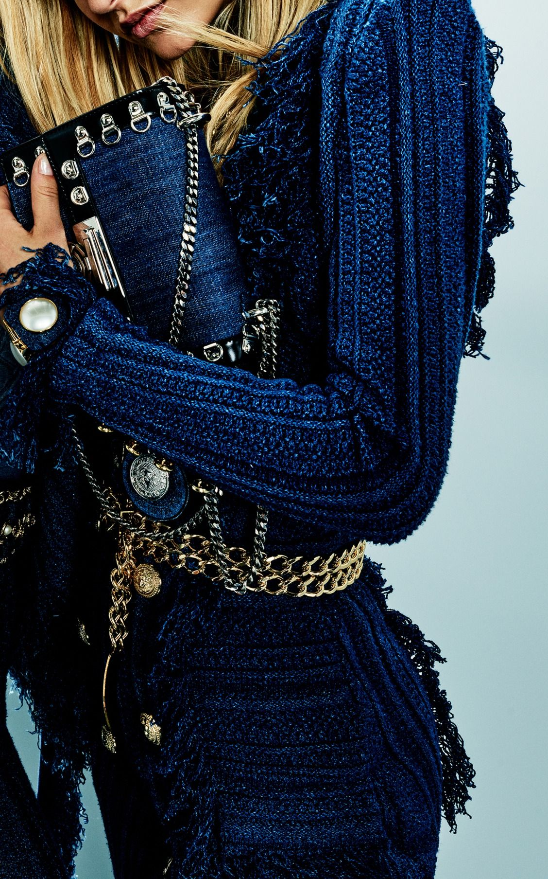 cdece3a56ae4 Denim Tweed Blazer Dress by Balmain | M'Odette Obsessions in 2019 ...