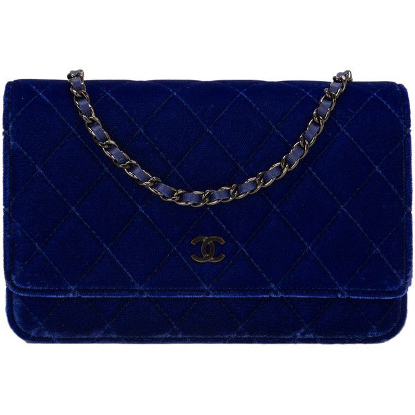 3 000 Liked On Polyvore Featuring Bags Handbags Chanel Bolsa Blue Multi Colored Pre Owned Chain Purse Royal