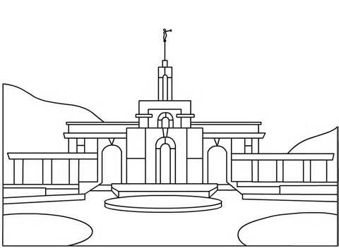 Lds Temple Coloring Pages Sketch Template With Images Lds Clipart