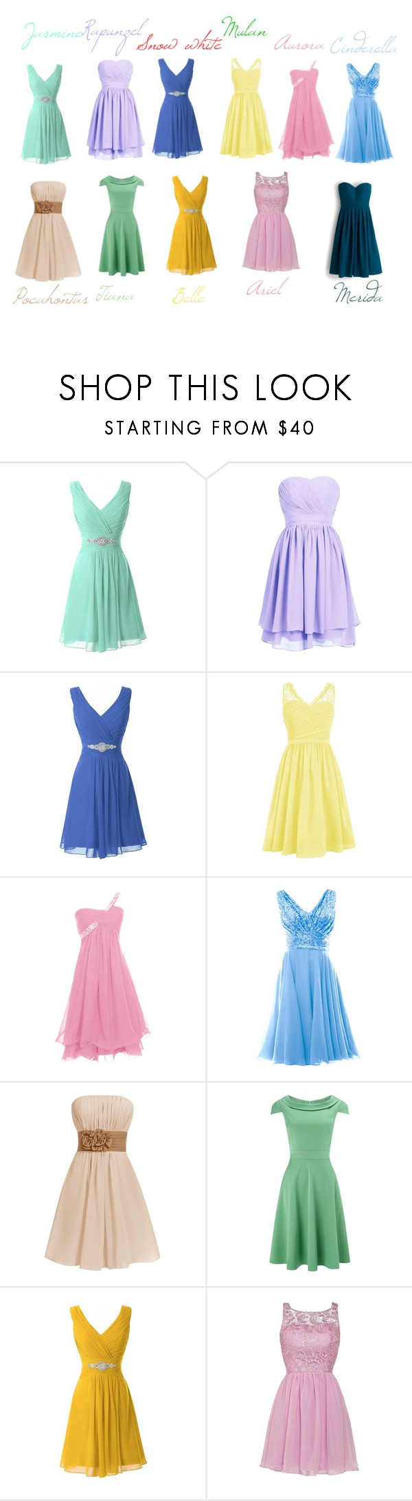 Disney princesses bridesmaid by hugo mops liked on polyvore disney princesses bridesmaid by hugo mops liked on polyvore featuring phase ombrellifo Gallery