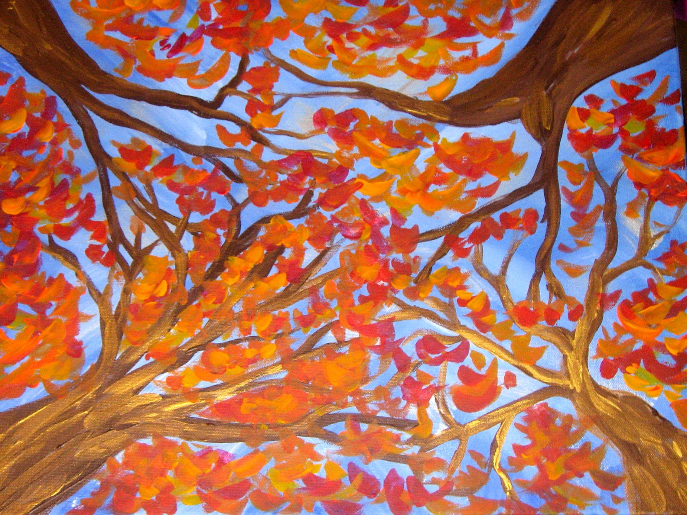 Fall Art Projects - Fall Scene For 4 Seasons Series