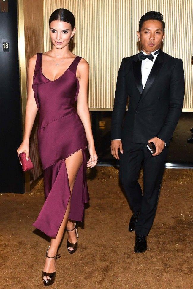 f2faa12306e  EmilyRatajkowski 2016 Met Gala After  PartyDress  Burgundy  CocktailDresses   prom  dress