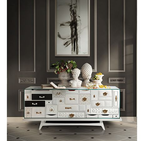 Mondrian Sideboard Exclusive Furniture Mondrian, Hall and Modern