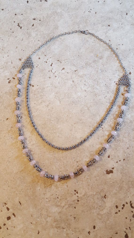 2 Stranded Chain Necklace by DonnaTwogood on Etsy