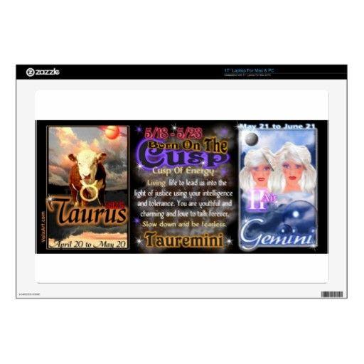 "Valxart zodiac Cusp Taurus Gemini Decals For 17"" Laptops ..."