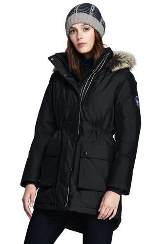 Womens Expedition Down Coat - 10 -12 - BLACK Lands End Low Price Fee Shipping Sale Online Cheap Low Price Fee Shipping U27zSIz