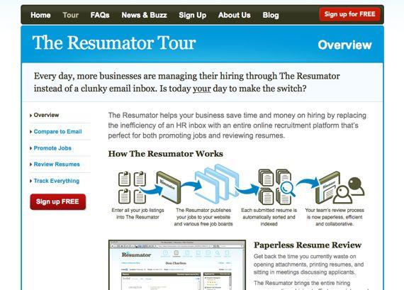Resumator Tour Pinterest Design inspiration, Products and - the resumator