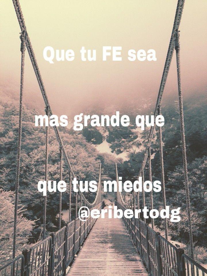 Para cruzar el puente hacia tus sueños, solo tienes que tener FE y creer en lo que haces #creeenti porque #sisepuede