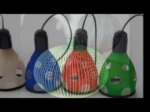 Ideas para hacer lamparas con material reciclado - YouTube