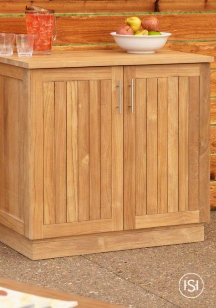 36 Artois Teak Outdoor Kitchen Cabinet Outdoor Kitchen Cabinets Kitchen Storage Units Food Storage Cabinet