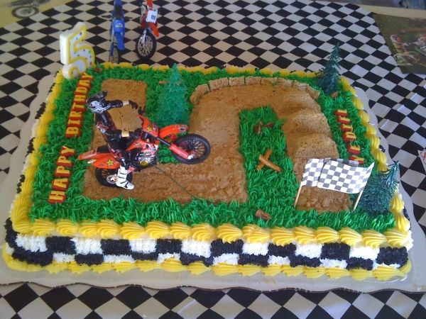 Surprising Motocross Birthday Cake With Images Dirt Bike Birthday Funny Birthday Cards Online Overcheapnameinfo