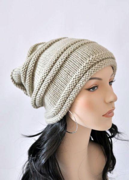 вязание шапки чулок спицыинтересное вязаные шапки вязанная