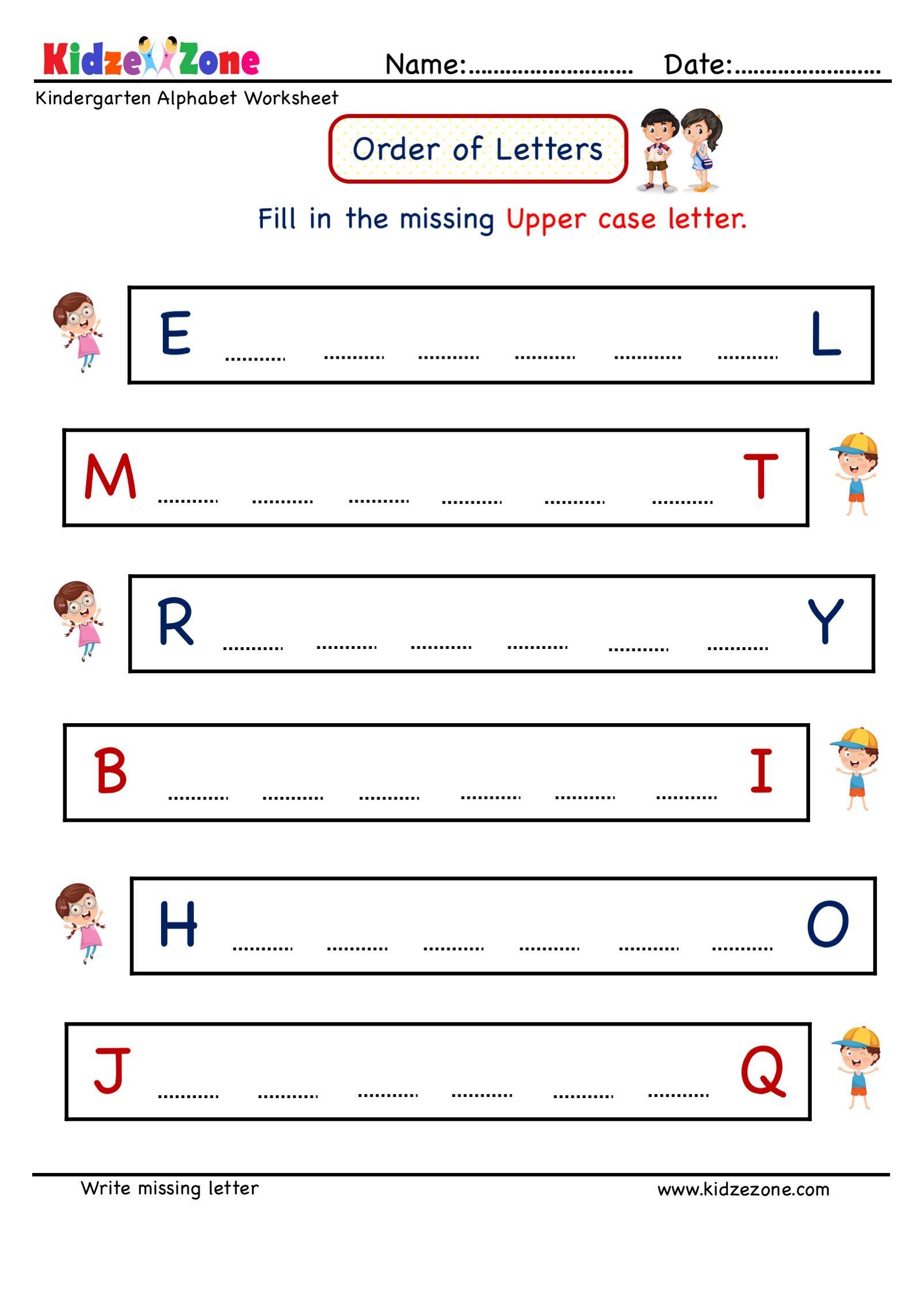 Pin On Kindergarten Missing Letter Writing Worksheets