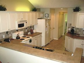 Bisque Appliances With White Cabinets Kitchen Inspiration